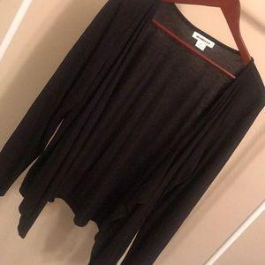 NWOT Liz Claiborne Black Open Front Cardigan - XL